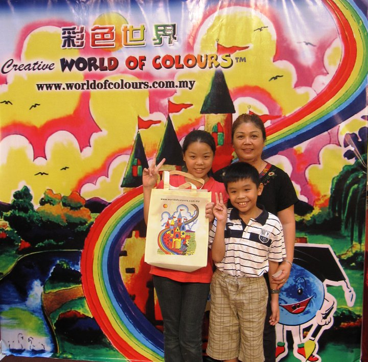 Children and Parent have a Sweet Memory on World of Colours Member Day 2011